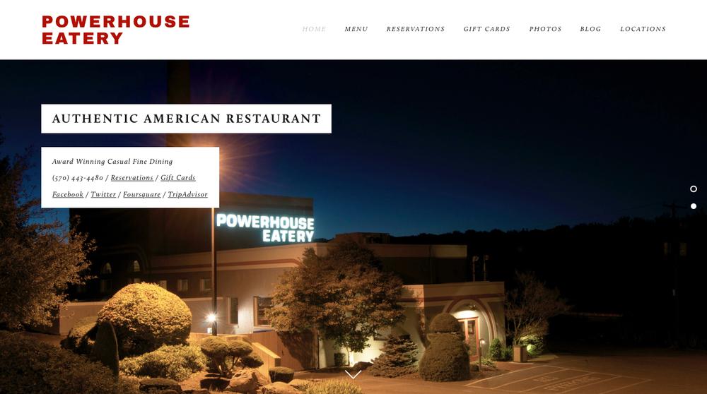 Powerhouse Eatery Homepage