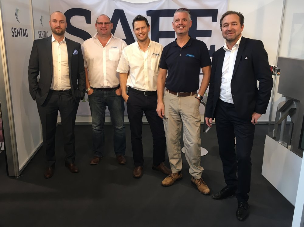 Directors of SenTag and Poolview Ltd at interbad in Stuttgart