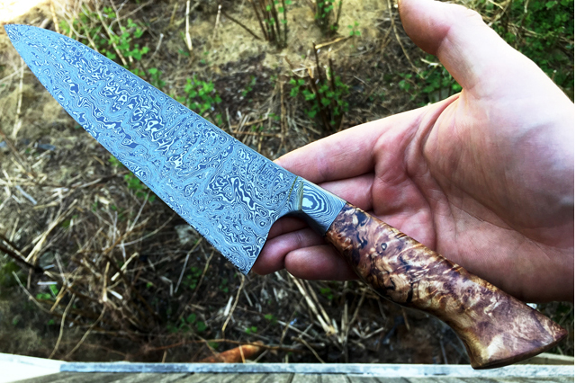 One-of-a-kind chef's knife handmade by bladesmith  Nick Anger  - $420+ (or $35+/month)