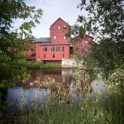 VSC's Red Mill seen from the bank of the Gihon River