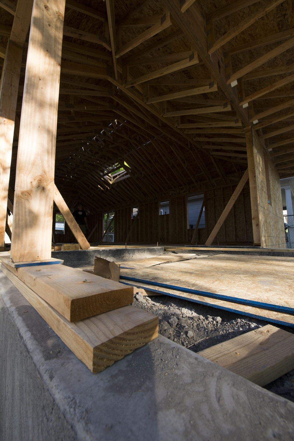 Raw materials: Concrete, wood, and steel