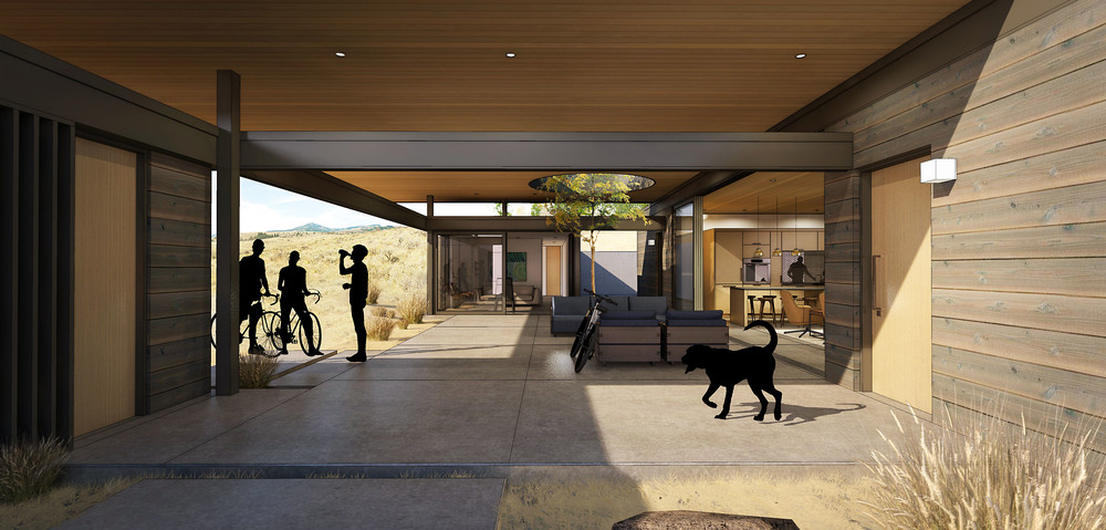 Cabin Complex - Living Veranda