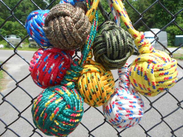 Monkey Knot Dog Toy Monkey's Fist Dog Toy