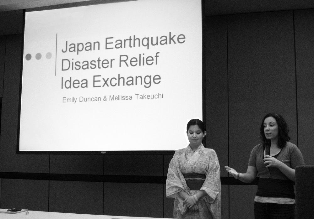 Mellissa & I presenting at Japanfest