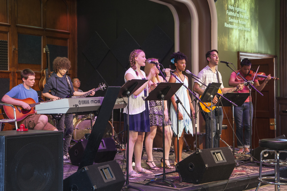 Students serve on the Student Ministries Worship Team