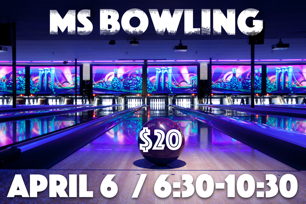 You don't want to miss a great opportunity for some bowling, food and fun. Join us and bring some of your friends as we have an awesome time bowling!!  Cost: $20