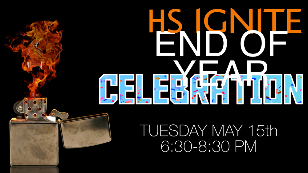 After a school year filled with fun and spiritual growth, we want to take intentional time to celebrate what God has done in your, the students, lives. The evening is filled more fun and excitement as end the year with a BANG!!! Bring you and your friends to join us!!