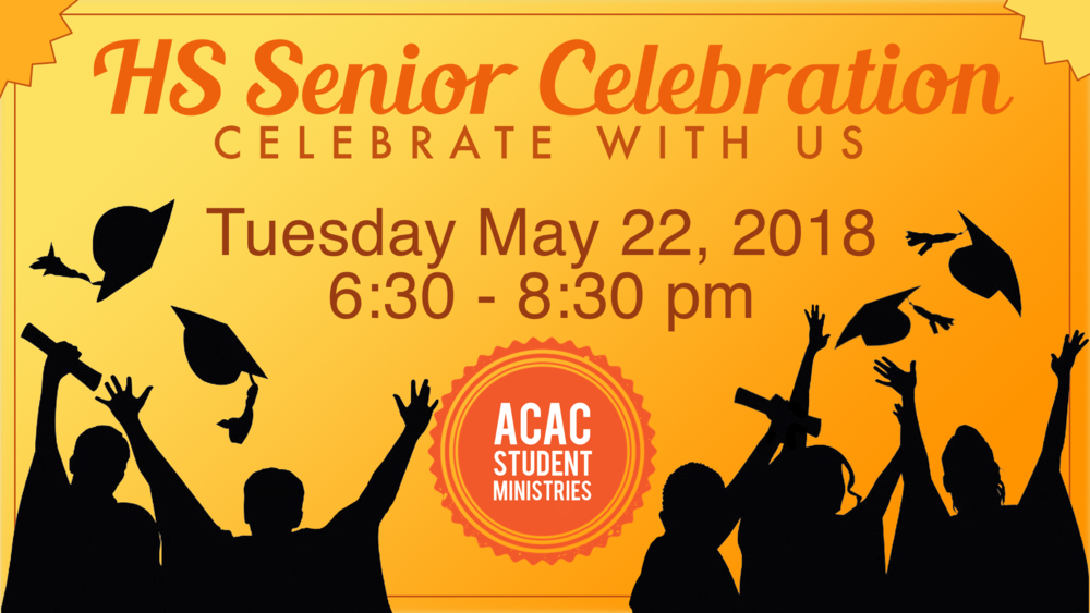 Seniors, what an amazing journey you have gone on so far. Along this journey, we want to spend time celebrating, honoring, feeding and praying for you. We hope that your and your parents can attend join in the celebration.
