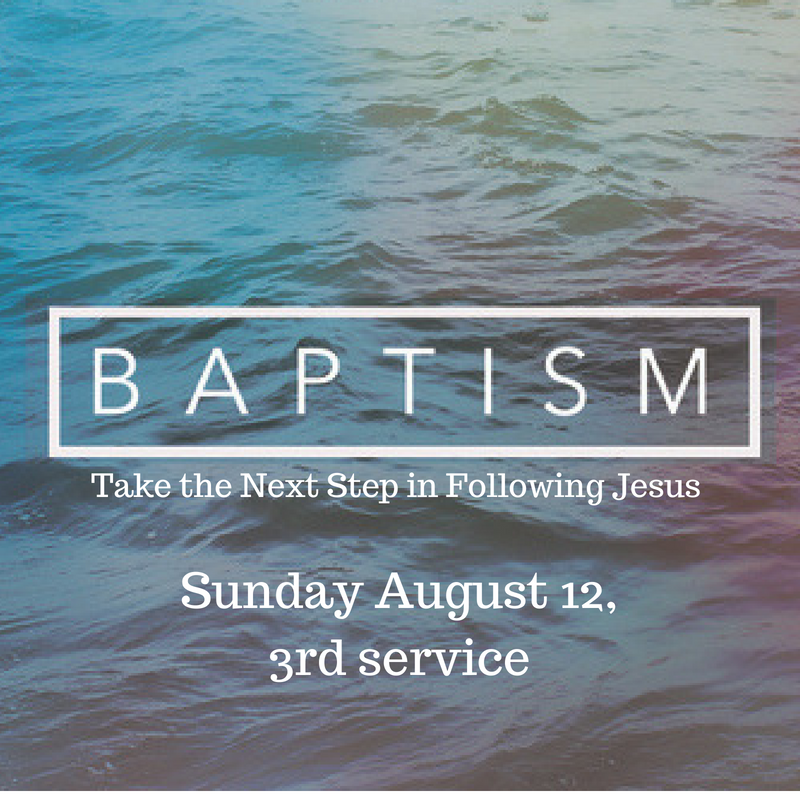 Feeling called to get baptized? Sign up below and join us for our class August 12 at 11:30AM. The baptism will be held at Turnbull lake Sunday August 26th!