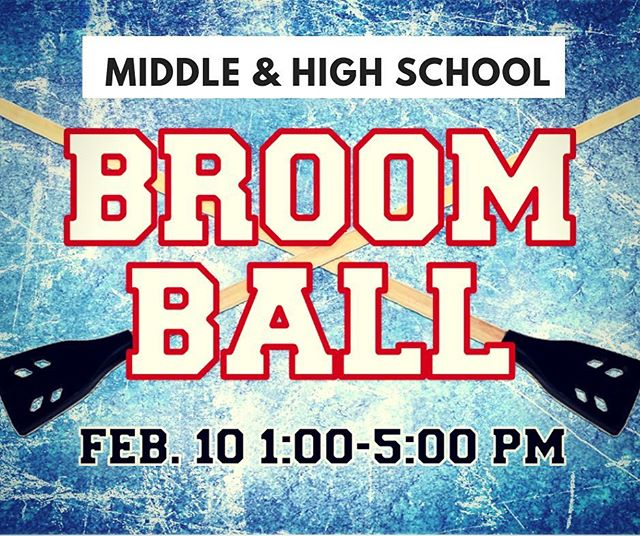 """❄️❄️❄️❄️❄️❄️❄️❄️❄️❄️❄️❄️❄️❄️ come hang out with us THIS SUNDAY after church for """"winter activities"""" — depending on the weather, we will be playing broomball on a frozen pond OR going ice skating. 🏒⛸ what is broomball you ask?? think hockey, but in your normal shoes, on ice, with everyone playing at once... invite your friends and join us! there is no cost, and we'll even feed you! 🍗meet in the student center at 1pm. (if you know you're coming, sign up via the link in our bio!)"""