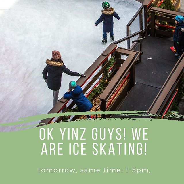 Since the lake is not frozen enough for broomball — we will be ICE SKATING instead! Pick up and drop off are still at ACAC, 1-5pm. We'll be heading to Schenley park! See you guys tomorrow!