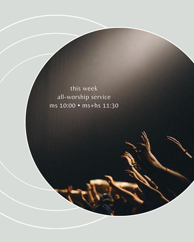 This Sunday we'll be changing things up; no middle school classes and no sermon! Instead, we'll be gathering for an extended time of worship, as we reflect on Christ's sacrifice for us as Easter approaches. Let's come together with open hearts to praise the One who paid our debt and raised our lives up from the dead!