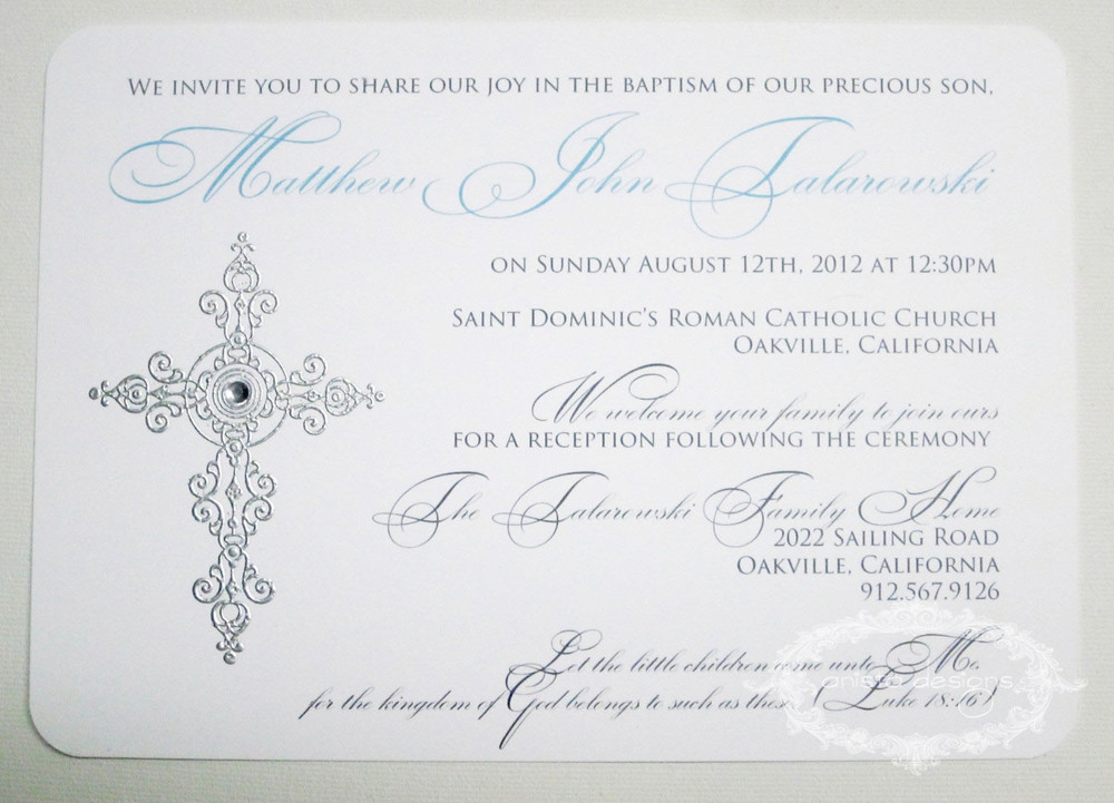 Baptism or Communion Invitations anista designs