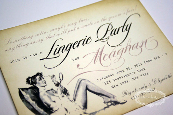 Lingerie Party Invitation