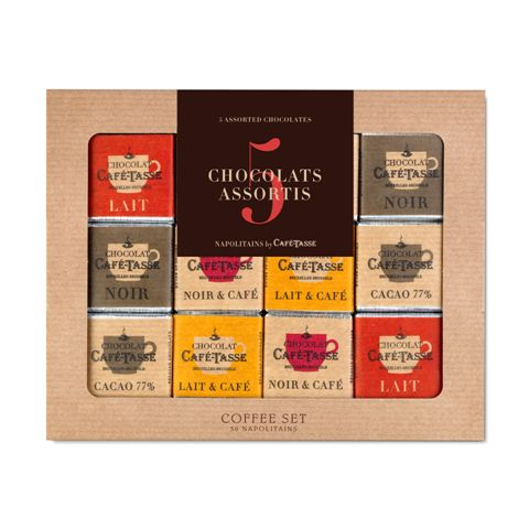 COFFEE SET BOX OF 36 NAPOLTAINS 5G ASSORTED
