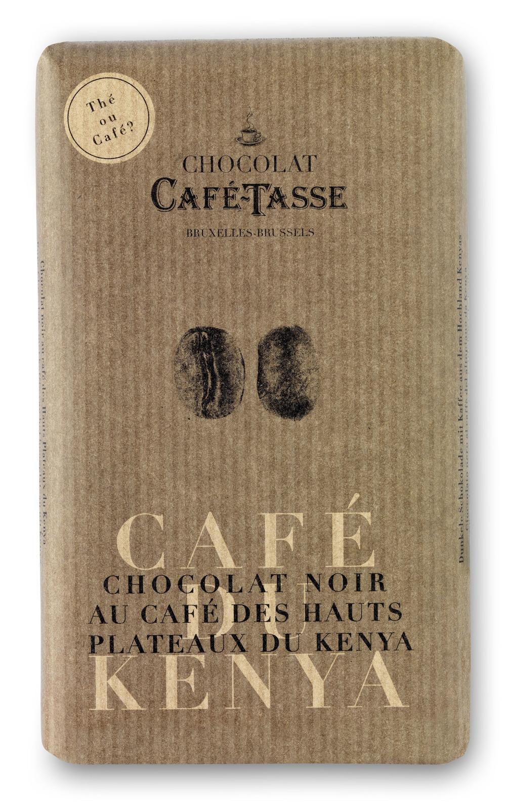 CAFÉ DU KENYA - NOIR & CAFÉ DU KENYA / DARK & COFFEE KENYA TABLETTES / BARS 57% 85G