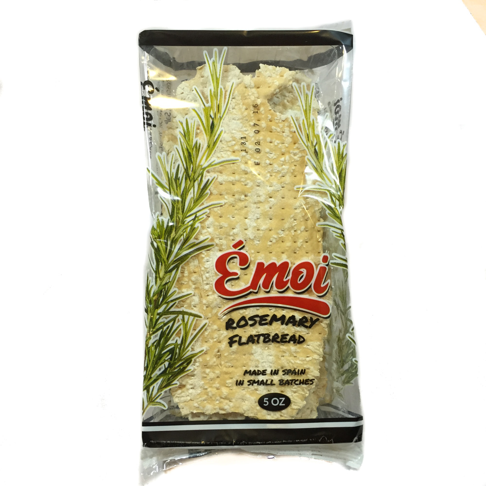 Wheat Flour, Water, Olive Oil, Yeast, Rosemary, Salt.  8 months from production date  Made from conventional ingredients not genetically modified.  12 per case 5.0 oz  UPC 7.99418.05564.0