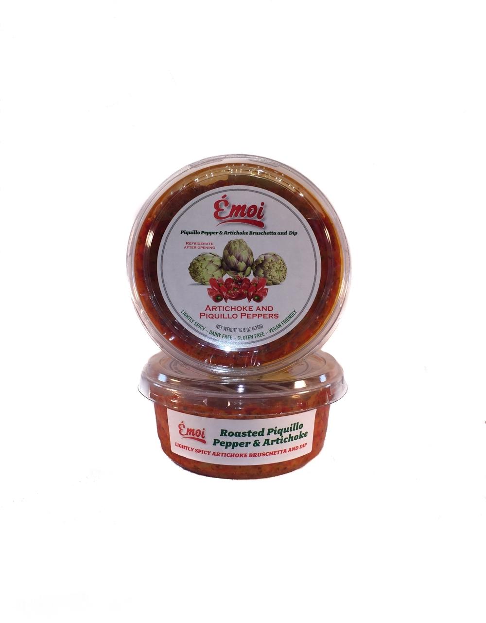 Piquillo Pepper & Artichoke Bruschetta & Dip
