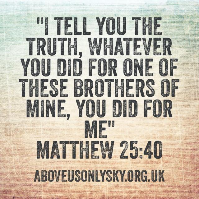 Matthew 25.40