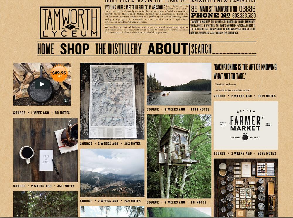 Blogging for Tamworth Lyceum & Distillery.