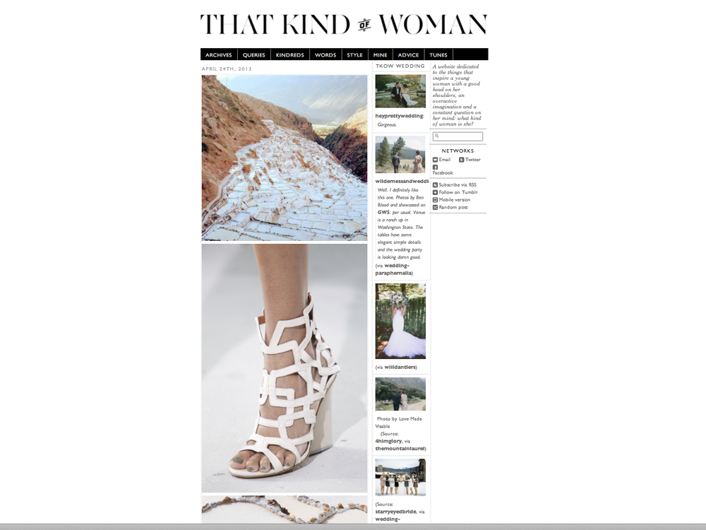 Photo editing and Imagery design on That Kind of Woman for Maiyet.