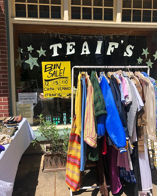 """We stopped by @teaifs yesterday, stop by today!!! She's our """"sister from another bad ass womxn"""" shop. Go check out her Instagram and consider donating at the very least!"""