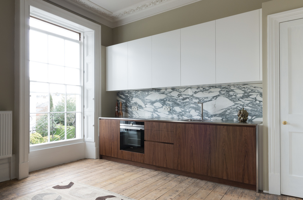 Cheltenham bespoke kitchen white spray lacquer powell picano