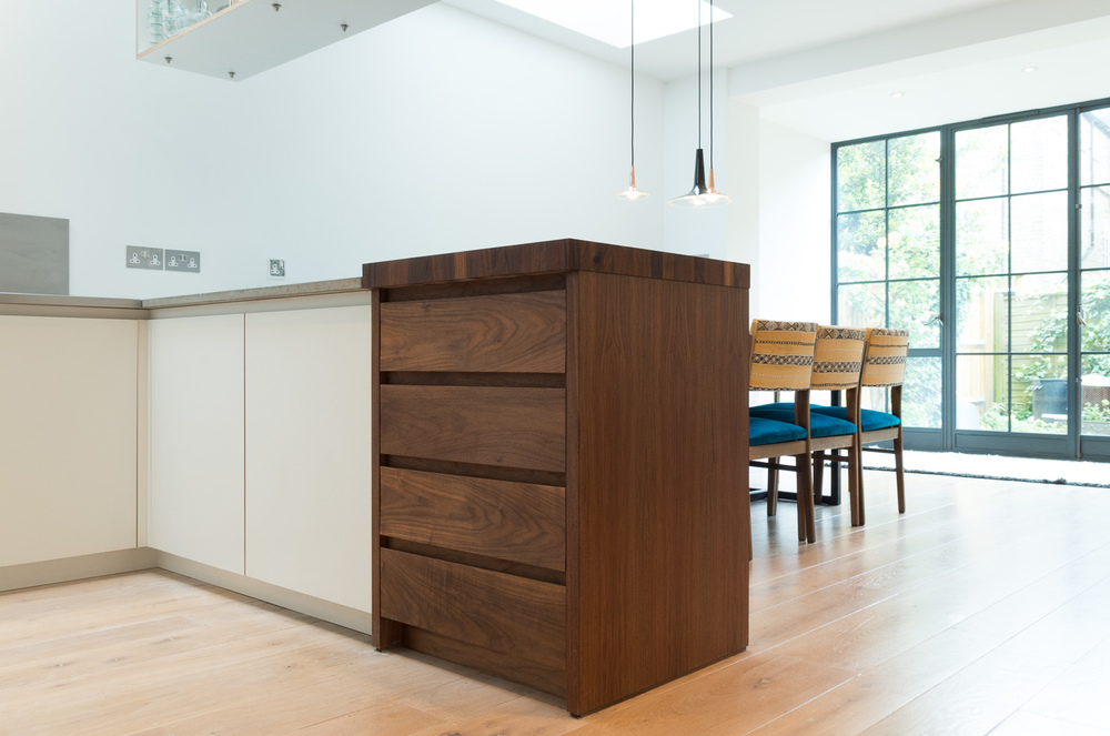 London Clapham Bespoke design kitchen butchers block