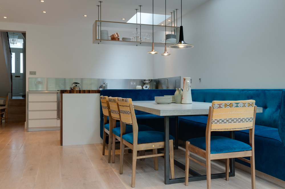 Copy of Custom designed kitchen - banquette dining area