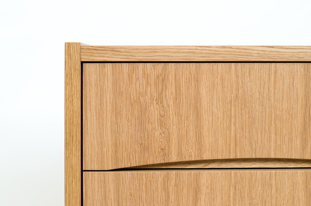 bespoke furniture - swedish sideboard drawer pull detail