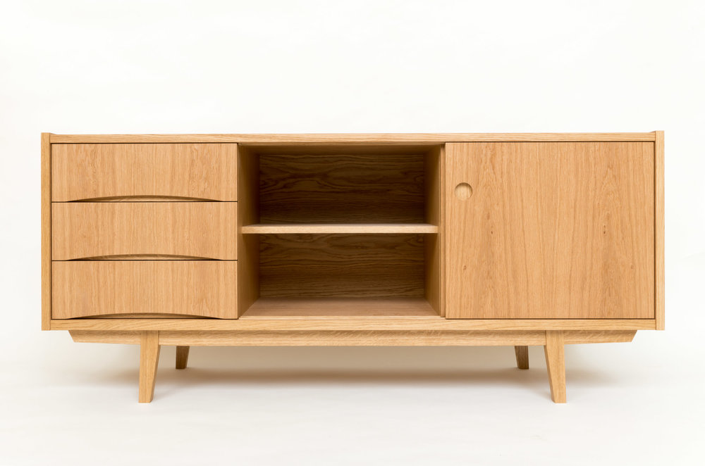 Copy of swedish sideboard custom freestanding furniture - bespoke fingerpulls powell picano