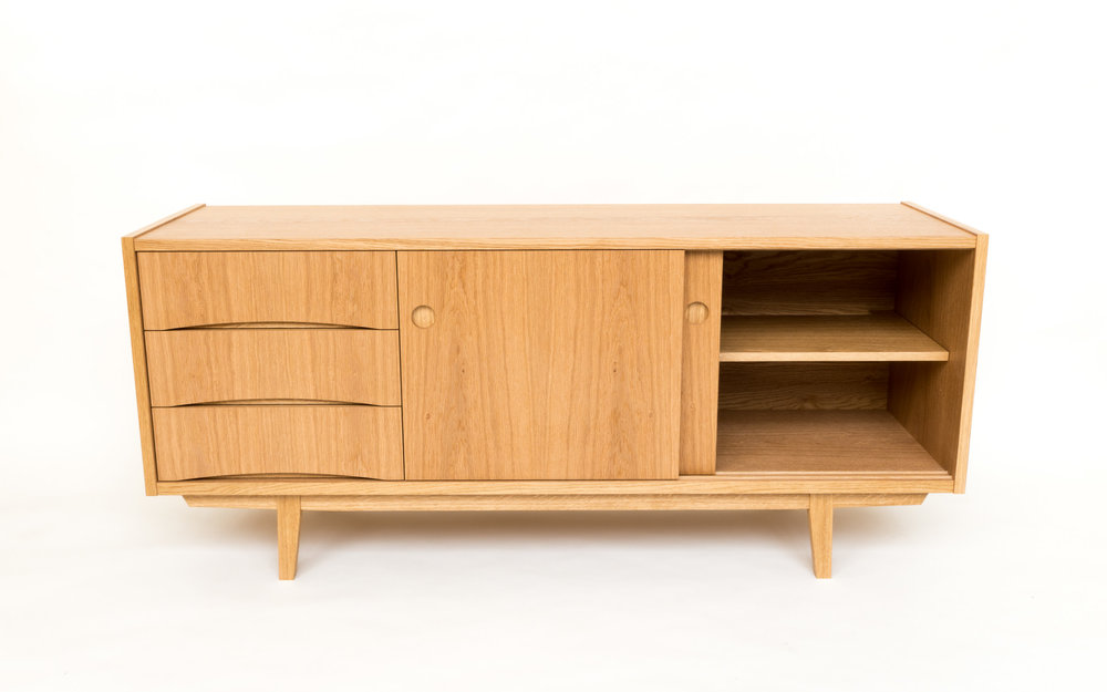 Custom bespoke furniture - Swedish sideboard sliding doors powell picano