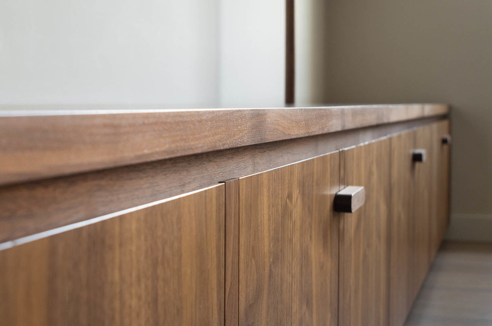 clifton gardens bespoke fitted cabinets solid walnut top