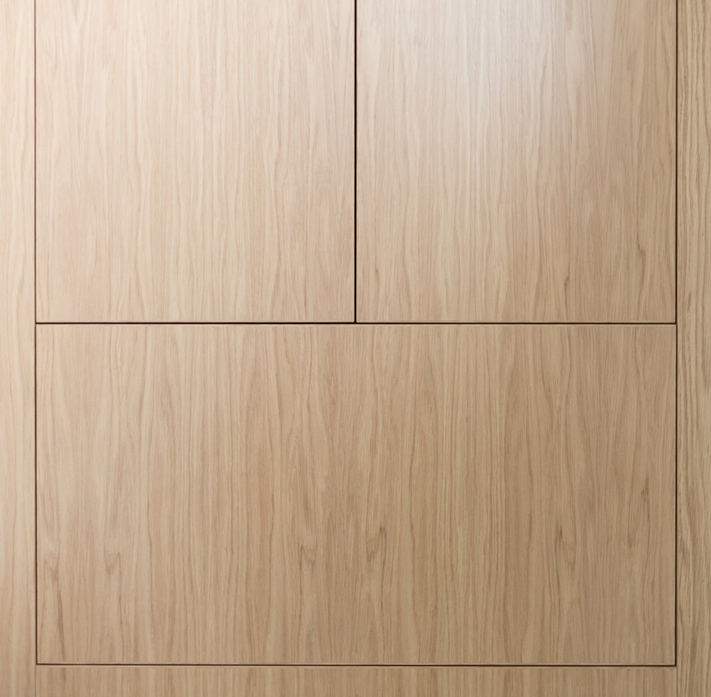Front view of our bespoke fitted bathroom cabinet.