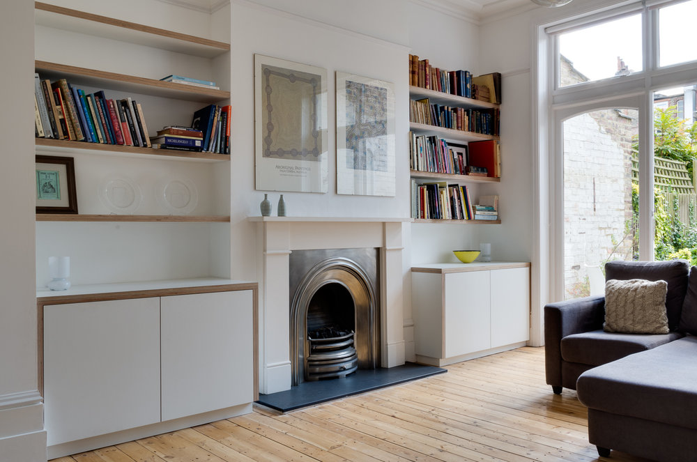 Muswell Hill London Custom Living Room Furniture Powell Picano London Bespoke Cabinet Makers