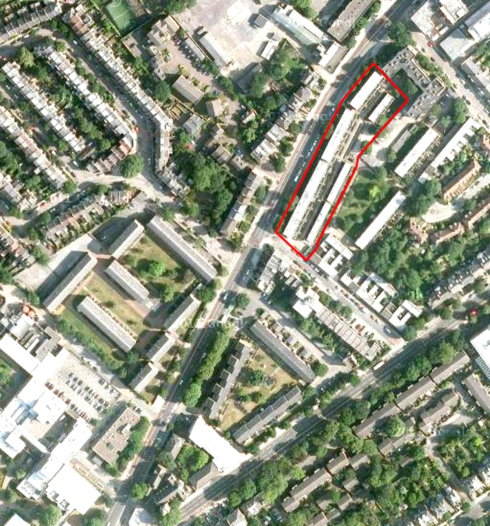 Site location - Parkhurst Road, Islington