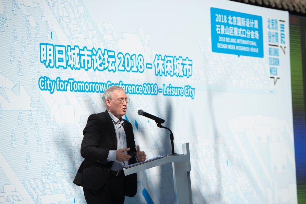 John Burrell at the City for Tomorrow Conference 2018 in Beijing