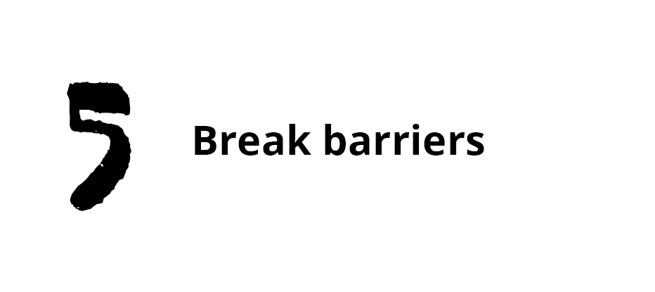 Break barriers, things that separate us like race, social and economic stance, communities, getting out of our comfort zone. Making that trip across the railroad tracks.Stepping outside of your comfort zone...out of your own backyard to help others who maybe don't speak your language to help them transition into a new location and feel comfortable, being available to help others who don't have as much as you by serving them (homeless shelters), being the hands of feet of God...giving with our time, what we are good at, and our money.