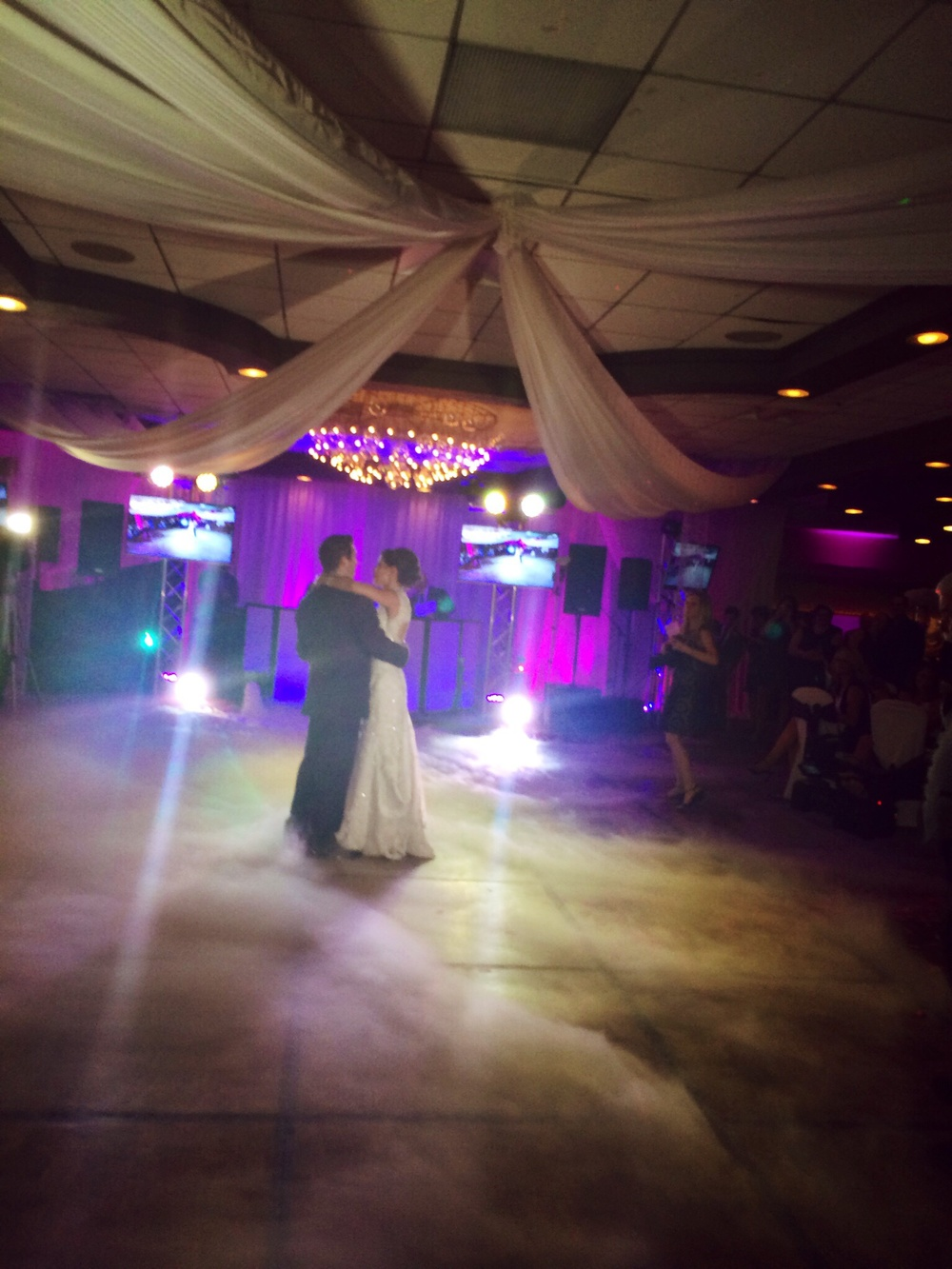 Krista and Shawn making a dramatic entrance at the Woodlands. Wilkes-Barre, PA.