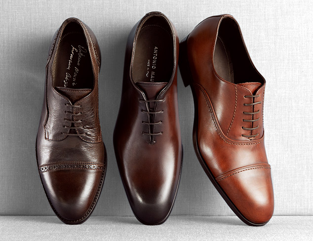 A nice pair of brown dress shoes
