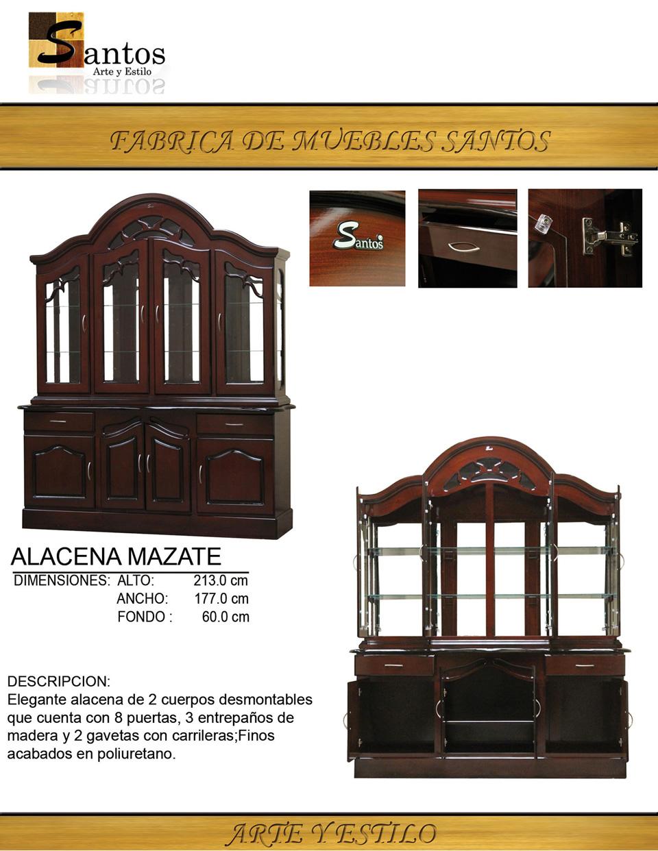 Alacena Mazate — Muebles, Alacenas, Roperos, Recámaras, Centros de Entretenim...