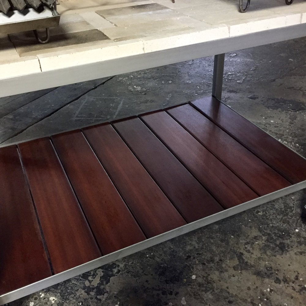 Ipe Base - Also known as Ironwood or Brazilian Walnut, Ipe is a beautiful exotic wood from South America.