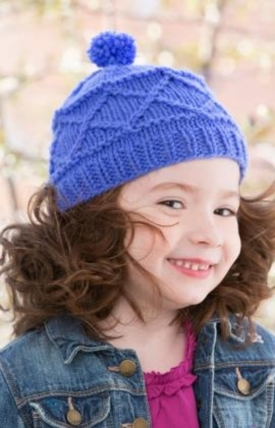 The Carousel Hat as shown on the Red Heart website. Can you handle the cuteness?