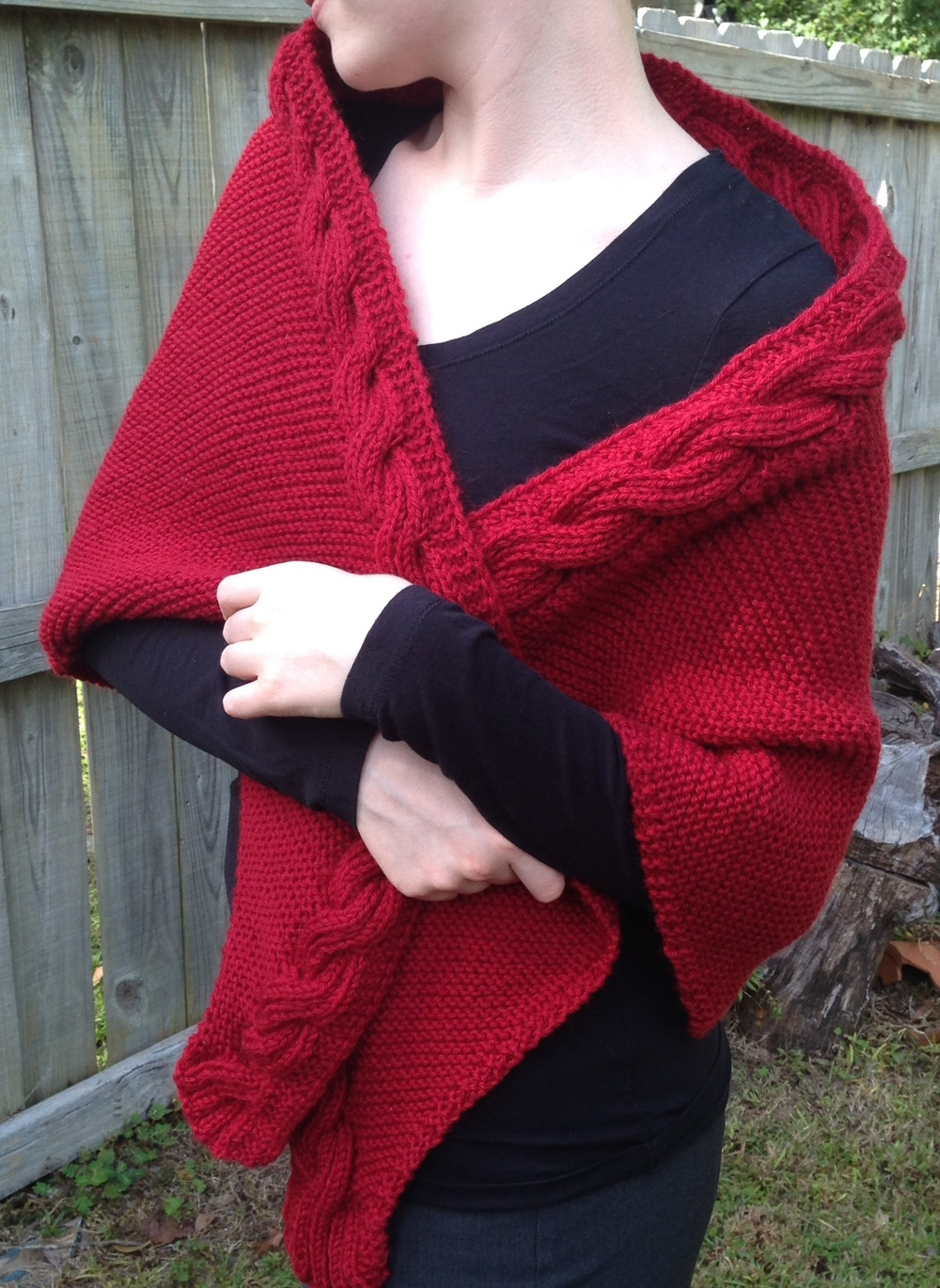 This version was knit in KnitPicks Wool of the Andes Cranberry.