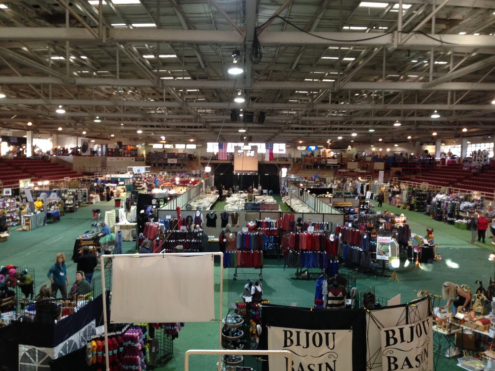 The first day, before opening. Vendors scurrying to make it all perfect before the doors open on SAFF 2014!