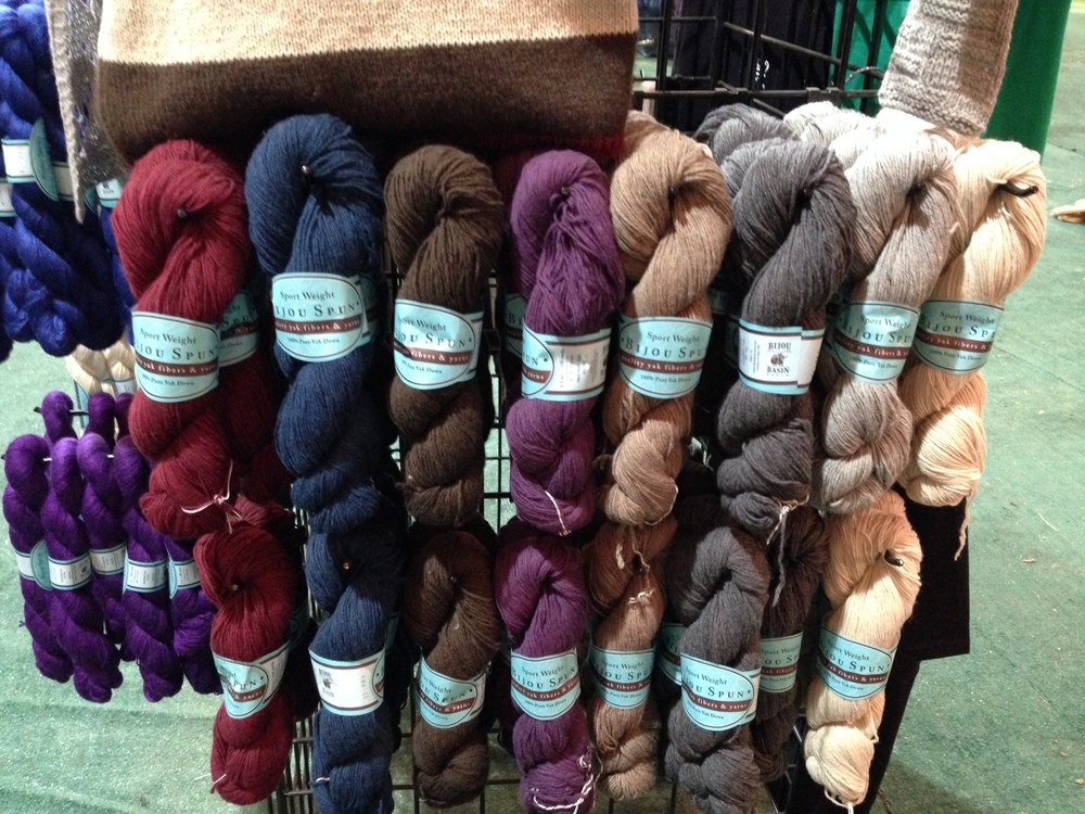 Bijou Basin Ranch, home of this 100% Pure Yak Down yarn, which I had to bring home. (I got cranberry!)