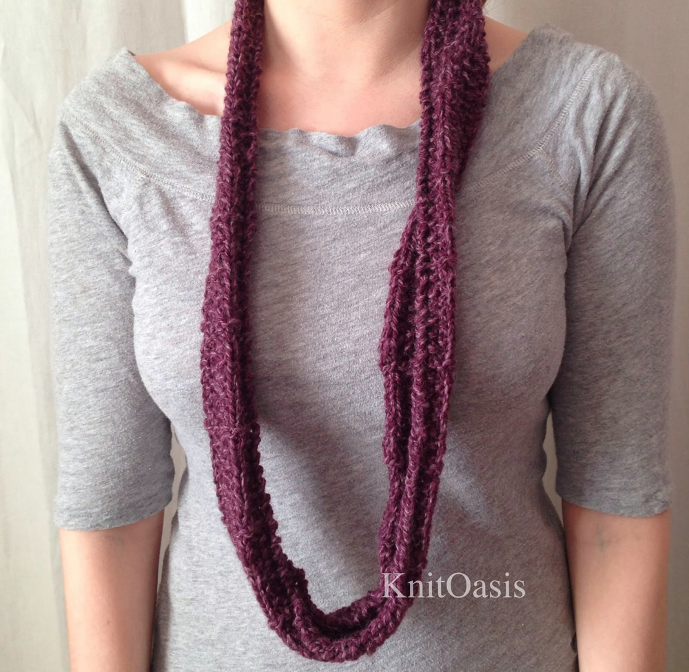 Infinity Scarf Knitting Pattern Thin Yarn : Free Patterns   KnitOasis