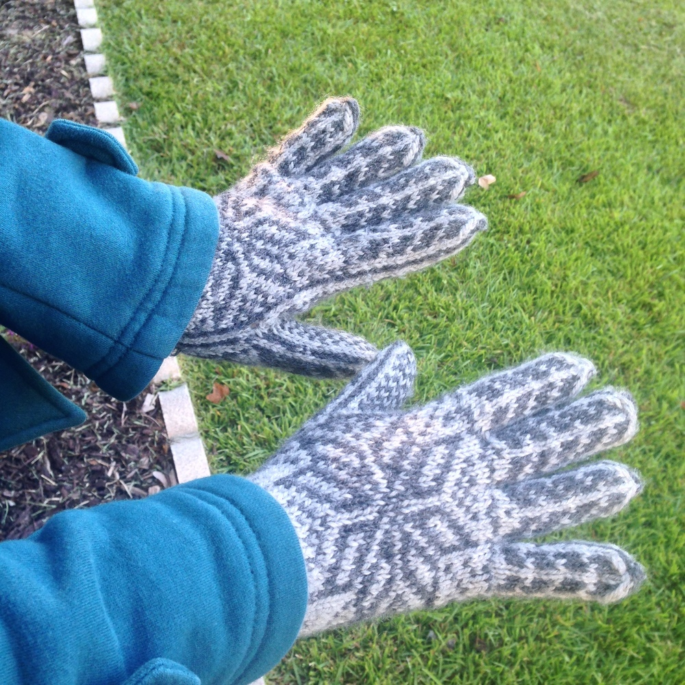#01 Nordic Gloves  by Fru Soleng. Knit by my daughter (her 1st Fair Isle project!).
