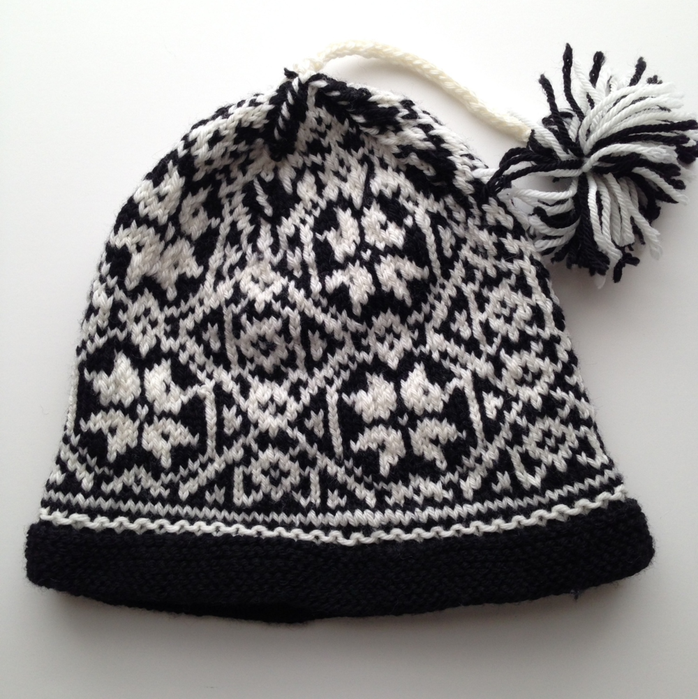 #08 Fair Isle Hat  by Mary Ann Stephens, published in Vogue Knitting, Fall 2011. Knit by me.