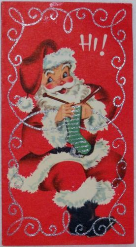 Even Santa has last-minute knitting to do!